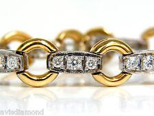 2.25 Carat Modern Diamond Circle Link Bracelet 14 Karat Two-Toned G/VS+