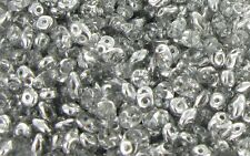 10 Gr SUPERDUO  2,5x5mm - CRYSTAL COMET ARGENT LIGHT  -  Super Duo Beads  # SD30