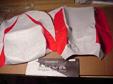 1996 YAMAHA YZF 750 Two-Pc SEAT COVER SKINS White/Red SECOND LOOK SPORTBIKES