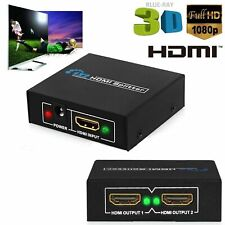 1 Input 2 Output HDMI Splitter 1080P 2 Way Switch Box Hub Full HD STV DVD DVR