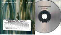 UNHAPPYBIRTHDAY Schaum 2018 UK 8-trk promo CD