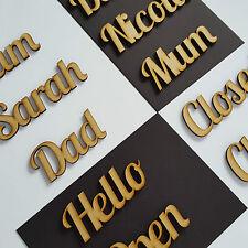 Lobster Script Font Names, Letters or Words Custom wooden MDF Wedding Christmas