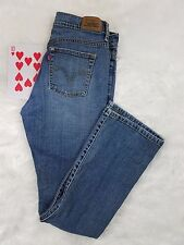 Levis 515 Womens Jeans 4M Denim Blue Medium Wash Stretch Waist Boot Cut EUC
