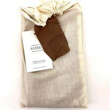 Restoration Hardware Garment Dyed Sateen Sable Brown Euro Pillow Sham