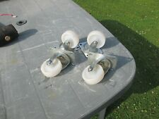 4 Sturdy Castors. Flat plate mounting, Ideal Project