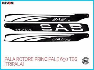 elicottero elettrico telecomandato rc Sab PALA ROTORE PRINCIPALE Goblin 690 TBS