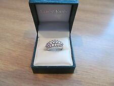 9ct Yellow gold cz cluster dress ring - New