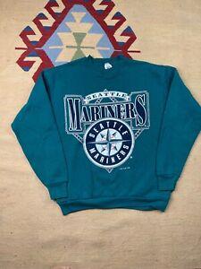 Vtg Seattle Mariners Crew Neck Sweatshirt Size M