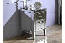 Matching Pair Venetian 2 Drawer Bedside Tables / Mirrored Bedroom Cabinets
