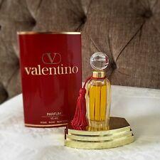 Nuevo Vintage VALENTINO V Pure Parfum Perfume 15 M Botella con Borlas de gran tamaño