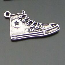 19PCS Antiqued Silver Alloy Star Sport Shoes Sneakers Necklace Pendant Charms