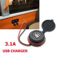 3.A Caricabatterie Adattatore  presa Presa connettore 2 USB per auto moto 12V IT