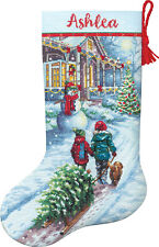 Cross Stitch Kit ~ Dimensions Christmas Tradition Stocking #70-08995