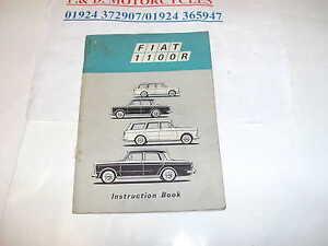 FIAT 1100R INSTRUCTION BOOK