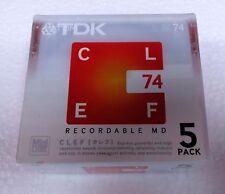 TDK CLEF 74 5 minidiscs new/sealed