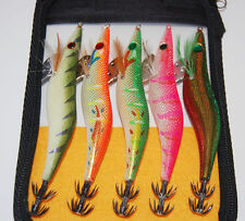 5PCS Fishing  Squid bait hook wood Shrimp lure Lures Crankbaits 13cm 19.5g