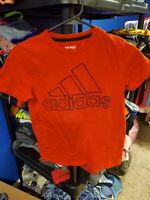 Boy's Adidas Red Short Sleeve Shirt With Logo Size Medium (10-12)