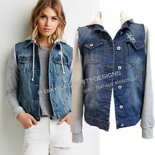 Denim Basic Regular Size Coats & Jackets for Women