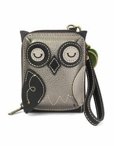 Chala  -  Cute-C Owl - NEW RFID Credit Card Holder Wallet Wristlet