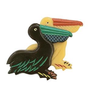 A Pair of Pelicans Plastic Pin