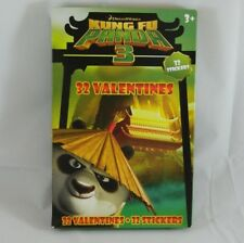 32 Count Kung Fu Panda 3 Valentines Day Cards w/ Stickers School Classroom Party