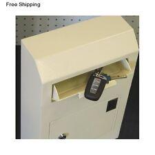 Security Drop Box Locking Depository Mail Slot Key Safe Wall Money Cash Deposit