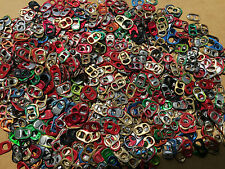350 Colored Aluminum Soda Pop Beer Energy Drink Can Pull Tabs Lot Arts Crafts