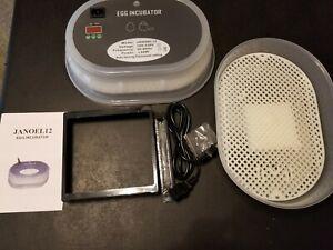 Egg Incubator JANOEL12 Automatic Turning, Thermostat Setting