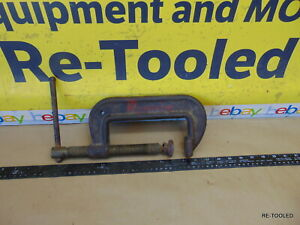 """WILTON 106 6"""" C-CLAMP WELDING CLAMP DROP FORGED STEEL MADE IN USA 6in"""
