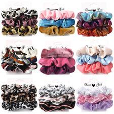 3Pcs Velvet Hair Rope Satin Sequin Cloth Scrunchies Elastic Ponytail Hair Ties