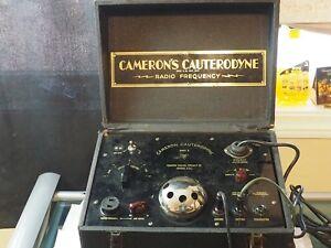 "CAMERON'S CAUTERODYNE ""Model M"" Surgical Coagulate and Cutting Machine circa1935"