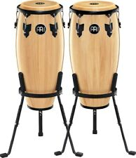 More details for meinl hc555nt headliner conga set natural w/stands
