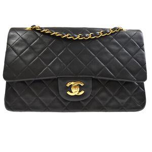 CHANEL Classic Double Flap Medium Chain Shoulder Bag 2626956 zx Black 41154