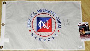 ANNIKA SORENSTAM Signed 2006 US OPEN FLAG - JSA COA - DLX EMB - LPGA *HOF