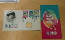 MALAYSIA 2016 100th Anni Pandu Puteri Girl Guide  Stamp FDC + Nordic Gold Coin