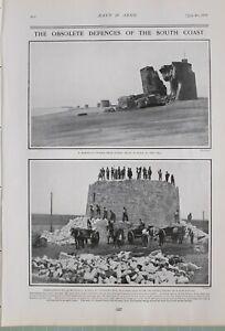 1903 PRINT OBSOLETE DEFENCES MARTELLO TOWER DEMOLISHING No 59 NEW ESTATE