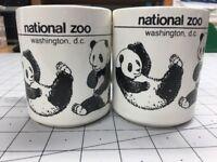 1980 Panda Bear Pair 2 Mug National Zoo Washington D. C. Ling-Ling Hsing-Hsing