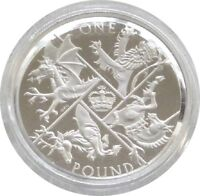 2016 Royal Mint Last Round Pound £1 One Pound Silver Proof Coin Box Coa