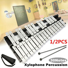 More details for 30 note glockenspiel xylophone aluminum foldable percussion mallet + bag set