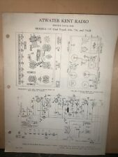 Atwater Kent Radio -Service Data & Parts List- For Models 155,636,756 & 756-B