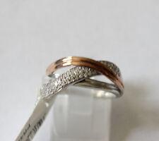 Damenring 925 Silber teil rosé vergoldet mit Zirkonia Ringgröße 56 CEM 5-202235