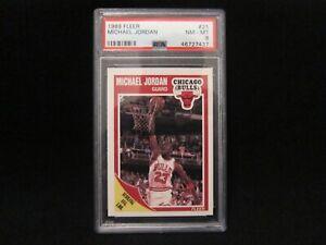 MICHAEL JORDAN 1989-90 FLEER #21 PSA 8 NM-MINT MASSIVE BV$$ 🔥🔥