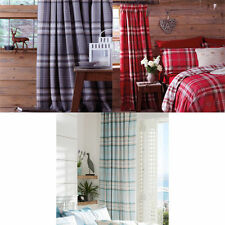 Catherine Lansfield Checked Ready Made Curtains & Pelmets