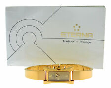 Authentic New Ladies Eterna Sahida 2610.25 Gold Steel Quartz 17MM Watch