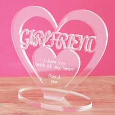 Personalised Heart Keepsake Girlfriend Birthday Anniversary Valentine's Day Gift