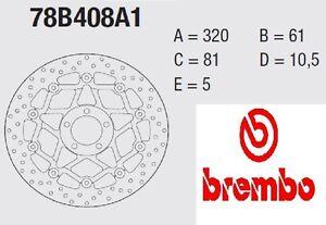 Disco freno BREMBO Serie Oro ANT Kawasaki 1200 ZX12R NINJA 00 > 04