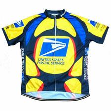 USPS US Postal Service Cycling Jersey Shirt Sleeve Retro Bike Vintage Bicycle
