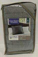 "Better Homes and Gardens Cotton Euro Sham, Gray. 26""x26"""