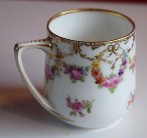 Antique Ambrosius Lamm Dresden Porcelain Handpainted Cup