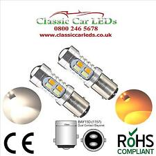 2x 6 Volt 6V BAY15D 384 WARM WHITE & Ambra Led indicatore luce laterale e combinati